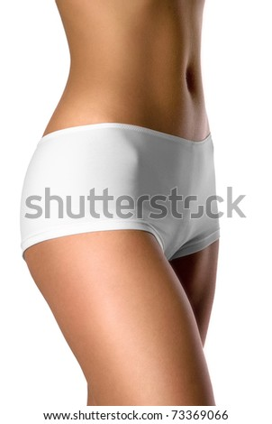 thighs and abdomen of beautiful and sexy female figure - stock photo