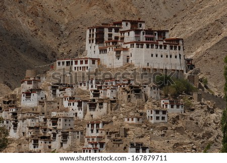Thiksey Gompa - stock photo