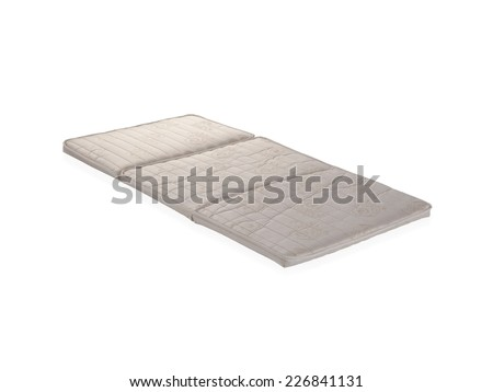 Thin bedding isolated on white background  - stock photo