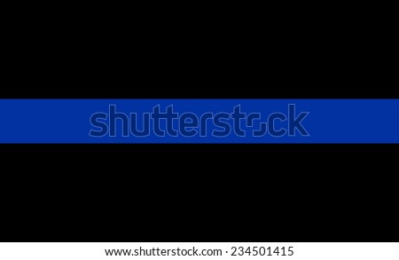 thin blue line flag law enforcement symbol - stock photo