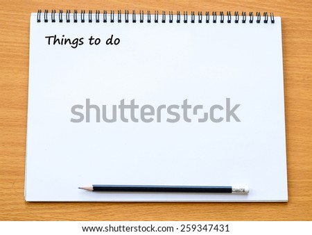 Things to do background, template - stock photo