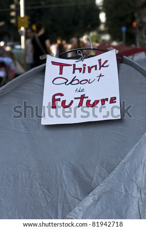 Think about the future - stock photo