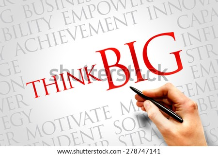 Think Big word cloud, business concept - stock photo