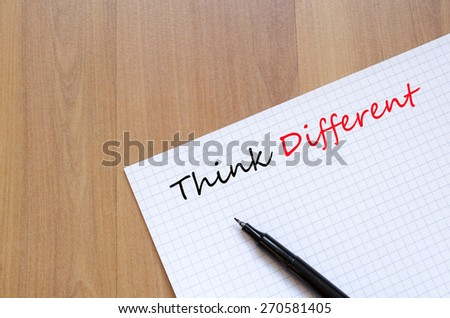 Think Different Concept notepad - stock photo