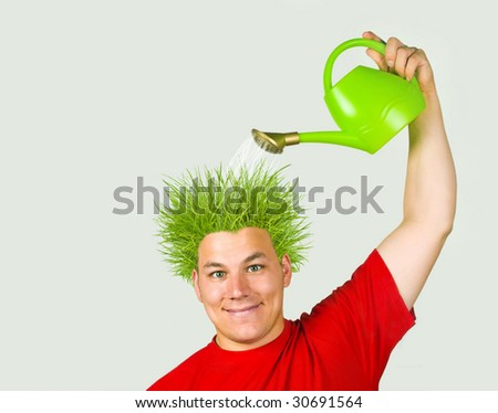 Think green! - stock photo