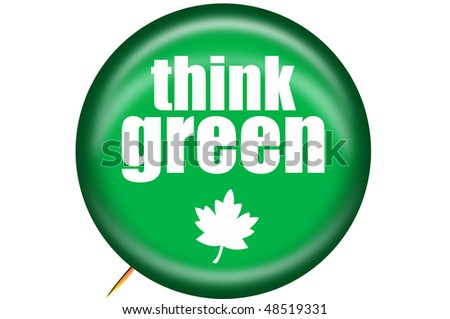Think Green Button - stock photo