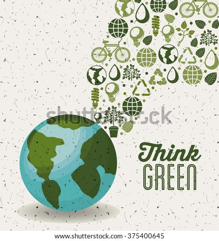 think green design  - stock photo