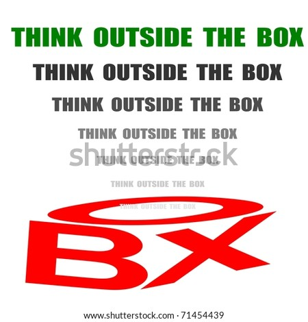 think high and outside the box - stock photo