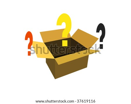 Think out of the Box! - stock photo