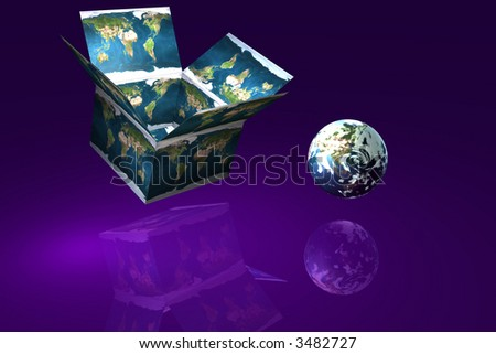 Think outside the box for success map courtesy nasa - stock photo