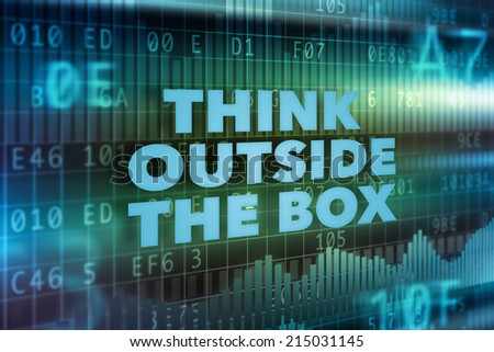 Think outside the box technology concept - stock photo