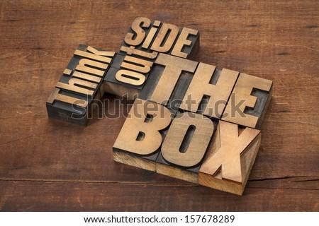 Vintage Wooden Typesetter Case Shadow Box Stock Photo