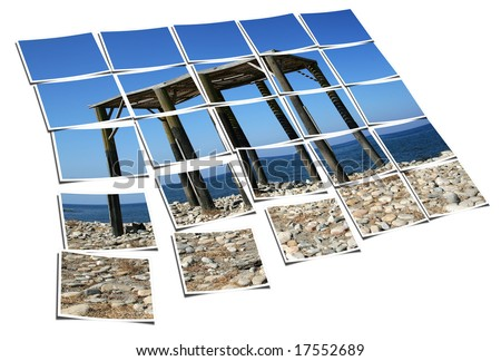 Think perspective, have a plan, try to see a bigger picture. - stock photo