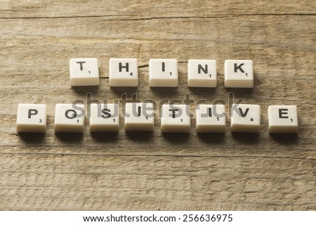 Think positive - stock photo
