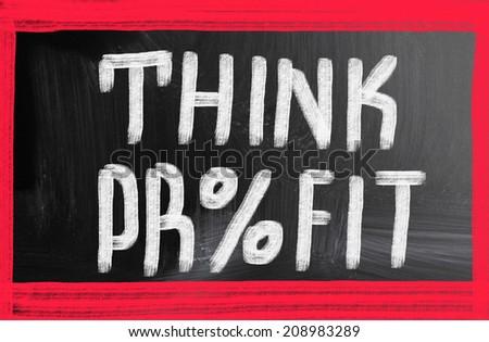 think profit - stock photo