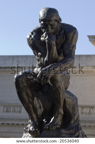 Thinker - stock photo