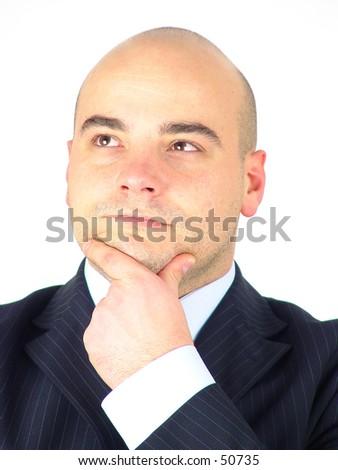 Thinking 1 - stock photo