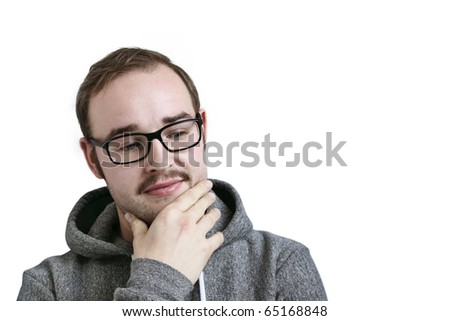 thinking about - stock photo