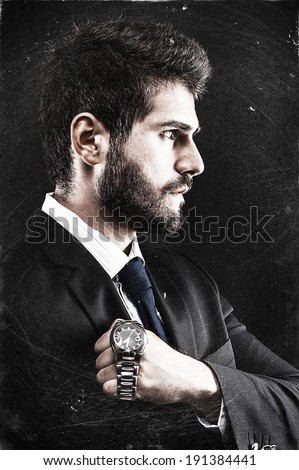Thinking about time - stock photo