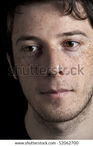 Thinking Boy with Freckles