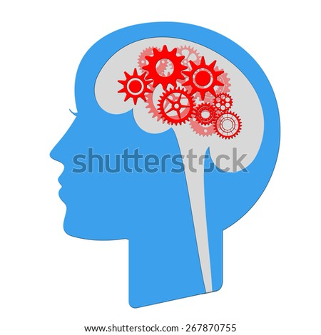 Thinking head - stock photo