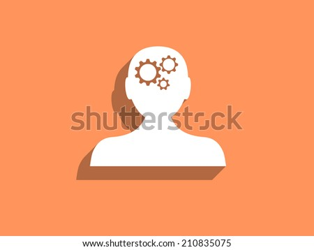 Thinking icon - stock photo