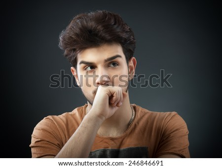 Thinking man - stock photo