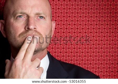 Thinking Man - stock photo