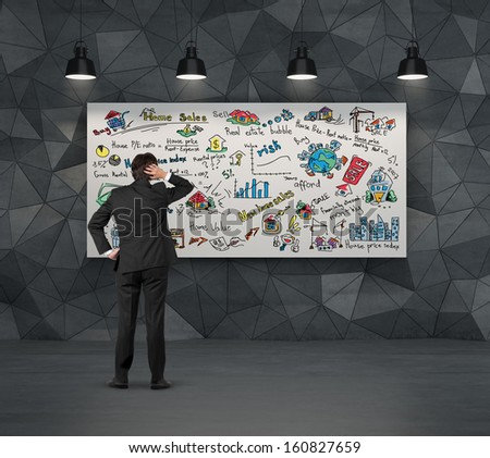 thinking of home sales - stock photo