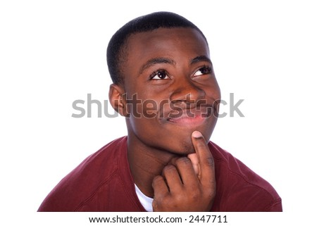 Thinking of the Answer - stock photo