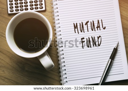 Thinking on Mutual Fund, personal finance conceptual - stock photo