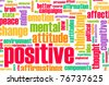 Thinking Positive as an Attitude Abstract Concept - stock photo