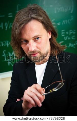 thinking teacher - stock photo