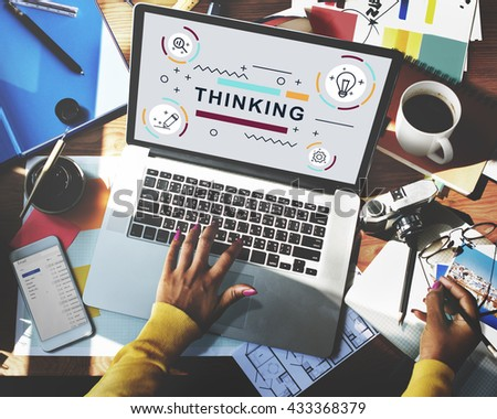 Thinking Thoughts Creative Innovation Graphic Concept - stock photo