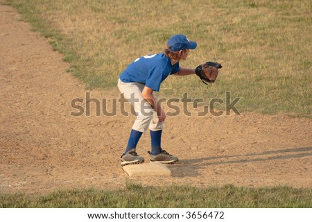 Third Baseman Baseball Player - stock photo