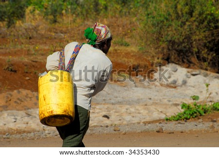 thirst in africa - stock photo