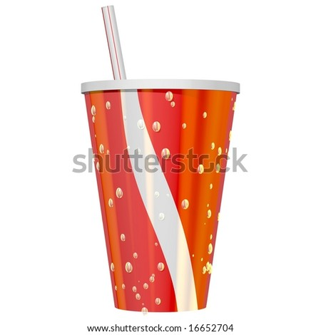 Thirst quenching ice cold drink isolated on white - stock photo