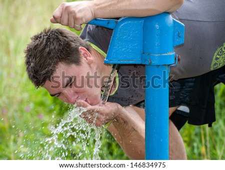 thirst satisfying - stock photo