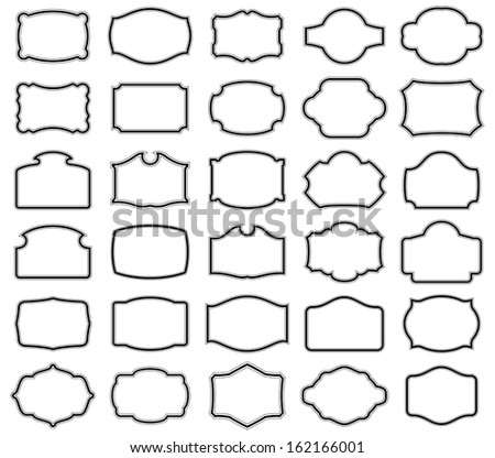 Thirty blank  labels - stock photo
