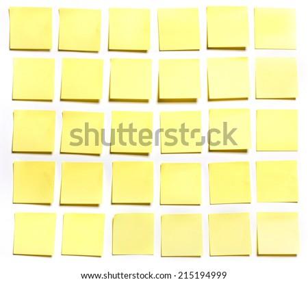 Thirty sticks note on white background, photo - stock photo
