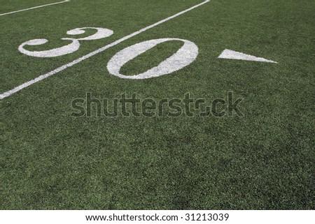 Thirty yard line - stock photo