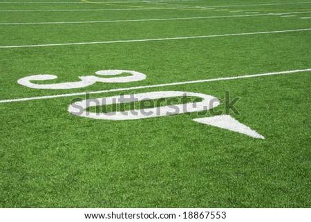 Thirty Yard line close-up - stock photo