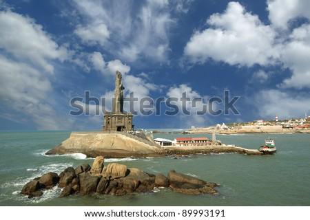 Thiruvalluvar statue, Kanyakumari, Tamilnadu, India. - stock photo