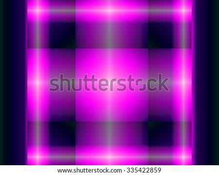 This bright abstract geometric design, one of a series in different colors, evokes a plaid.