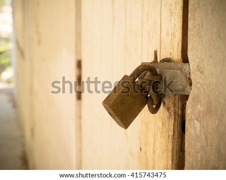 This can Lock the memory of this old house. - stock photo