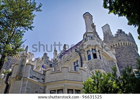 This castle  is one of tourist attraction in Toronto, Canada - stock photo