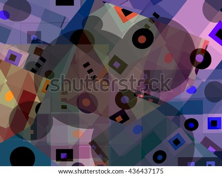 This geometric abstract background in variations of color has a strong spatial and optical appeal.  It's fun to look at and kids will love it. - stock photo