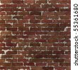 This grungy brick wall texture tiles seamlessly as a pattern. - stock photo