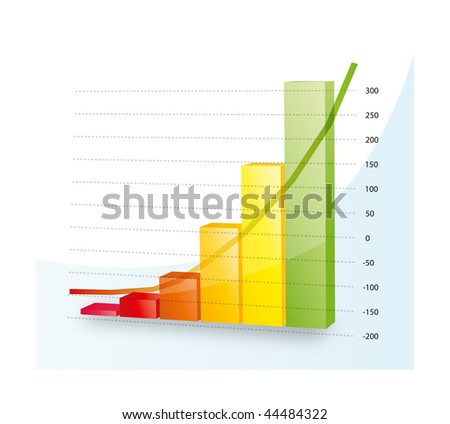 This illustration shows a positive diagram. - stock photo