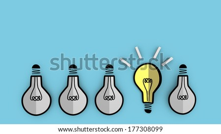 This illustration symbolizes a concept of emerging idea. For business background. - stock photo